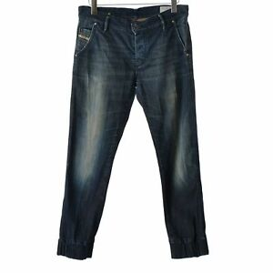 Diesel-Joyze-Women-Denim-Jeans-size-W30-L32-faded-D-blue-Jogger-Stretch-pants