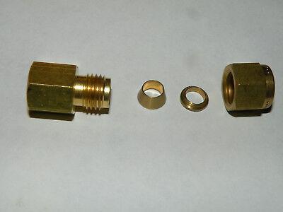 1//16 Tube OD Swagelok B-100-61 Brass Tube Fitting Bulkhead Union