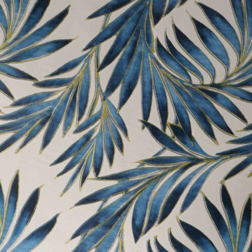 Wachstuch Tischdecke Wachstischdecke Soft Touch Antik Palme Blau Größe wählbar