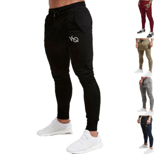 Men Slim Fit Sporting Breathable Joggers Pants Fitness Bodybuilding Trousers