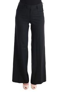 vierge larges laine en Pantalon Nouveau jambes noir Ermanno Scervino à qxzwX6Y