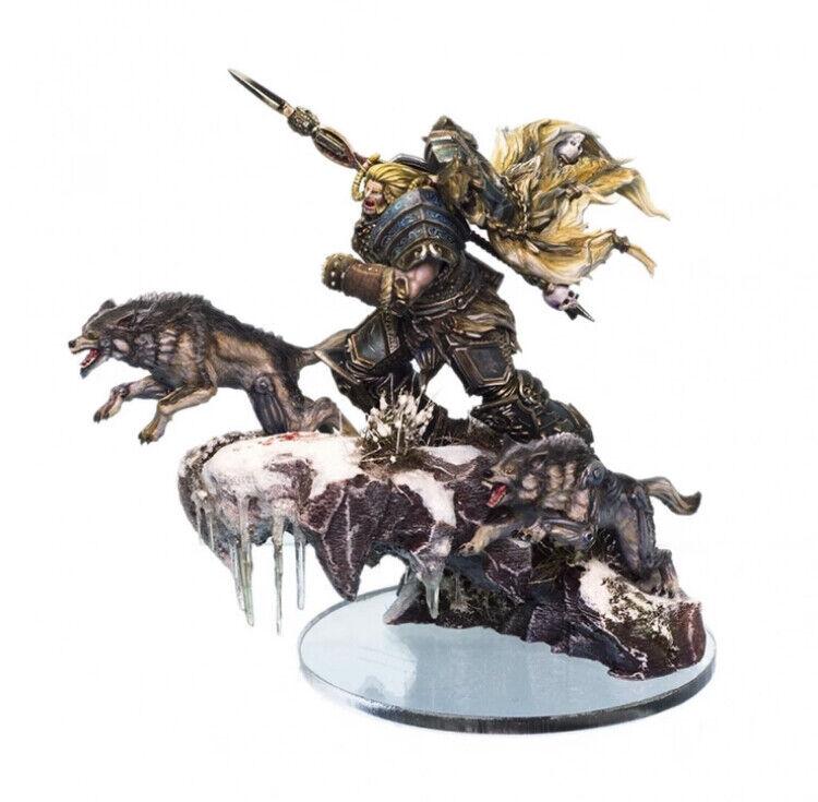 1 32 Warrior with dogs hkonsts Figur modelllllerler Kit Unassembled and Ungable