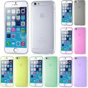 Apple-Iphone-6-4-7-034-Clear-Rubber-Case-Thin-Soft-Silicone-Transparent-TPU