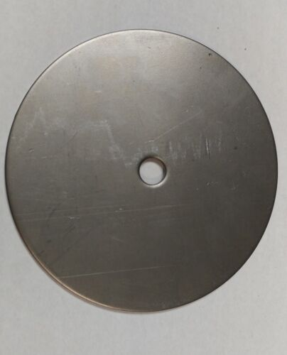 "12 Ga Steel Plate Disc Shaped 5 1//4/"" Diameter Circle 1//2/"" Center Hole"