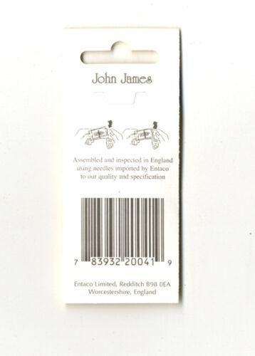 16 John James Size 5//10 Embroidery Hand Needles #JJ13550