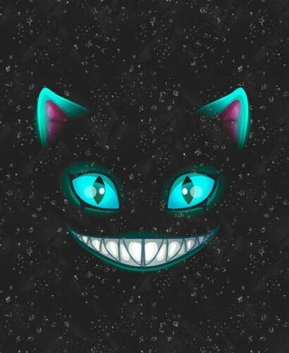 Sustancia paneles Sweat French terry sommersweat Fantasy gato turquesa negro 40x50cm