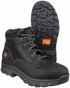f34ed8451a9 Details about Timberland Pro Workstead Safety Work Boots Black Wheat Lace  Up Toecap Midsole