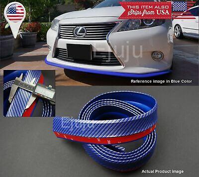 Rubber Glossy Blue Carbon EZ Bumper Lip Chin Trim Protector For Mazda Subaru