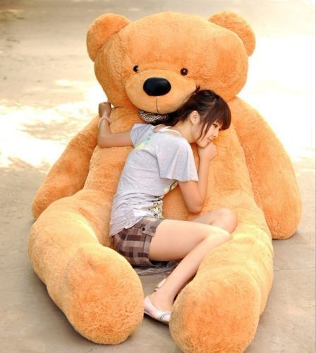 230cm Giant Teddy Bear Soft Cotton Toy Light marrone Big Plush Animal Cushion Gift