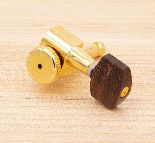Fender tuners 6 Tone Ninja Genuine Tintul Wood Buttons fits Hipshot Grover