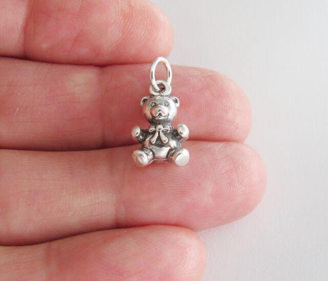Silver bear charm