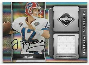 2009-Donruss-Limited-Material-Monikers-22-Jim-Kelly-Jersey-Autograph-13-25