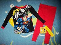 Justice League Pajamas Sleepwear 2pc Set Boys 2t 3toddler Super Heroes