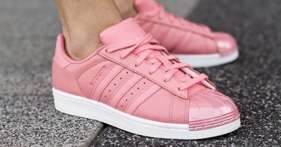 Adidas SuperstarBY9750 80s Women shoe US SZ 6.5 Tactile pink Pink Leather