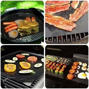 5x BBQ Grill Mat Reusable Resistant Non-Stick Barbecue Baking Sheet Cooking Meat