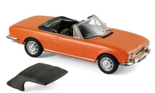 Norev peugeot 504 cabrio - 475432 - 1970 - capucine gelb 1   43