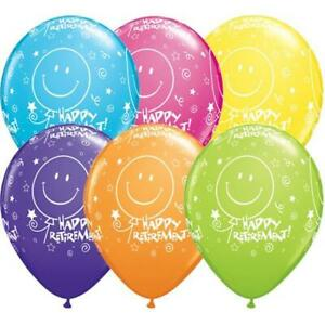 "10th Anniversaire Latex Balloons dans Tropical Colours Qualatex 11/"" Aged 10"