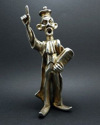 Italian Law Court Clown Electroform Sculpture in Sterling Silver