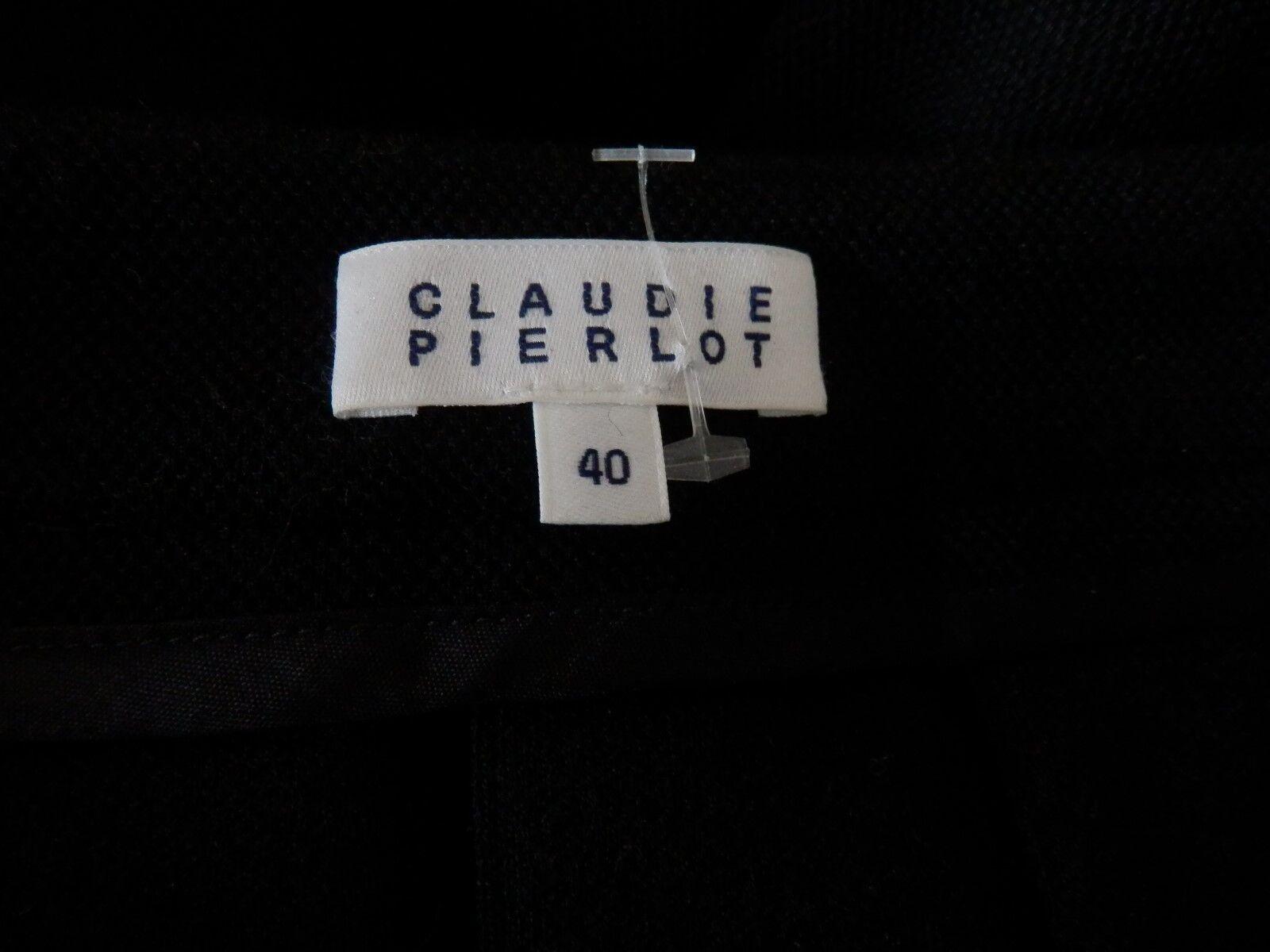 CLAUDIE PIERLOT - JUPE PLISSEE - LAINE LAINE LAINE ... nero - T. 40fr - NEUVE - AUTHENTIQUE caca56