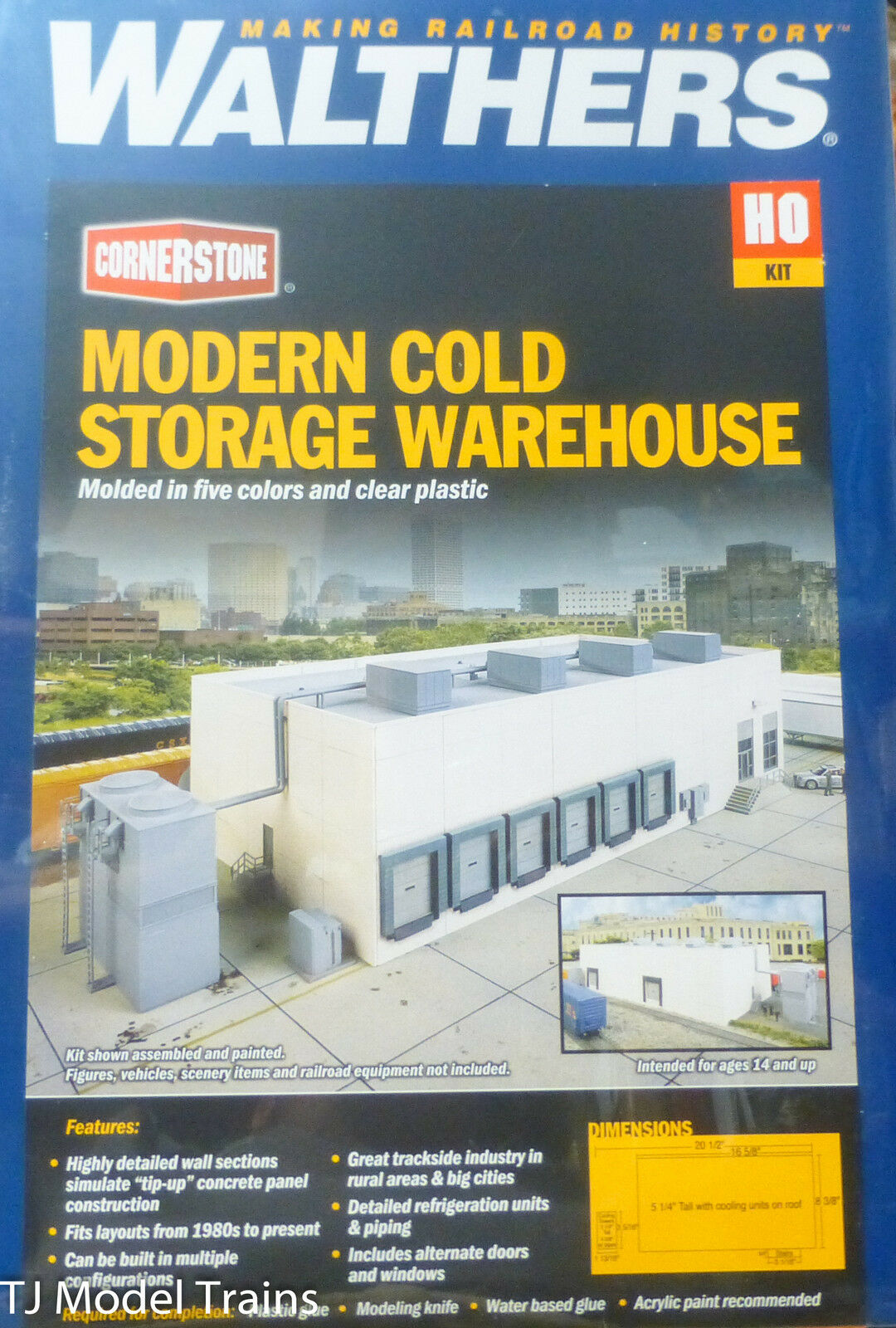 Walthers HO Modern Cold Storage Warehouse (Large Kit)