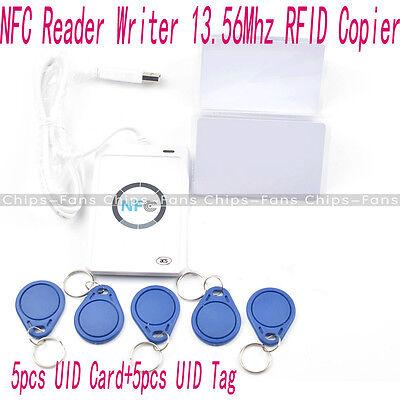 ACR122u NFC Reader&Writer 13.56Mhz RFID Copier Duplicator+5pcs UID Cards+Tags UK