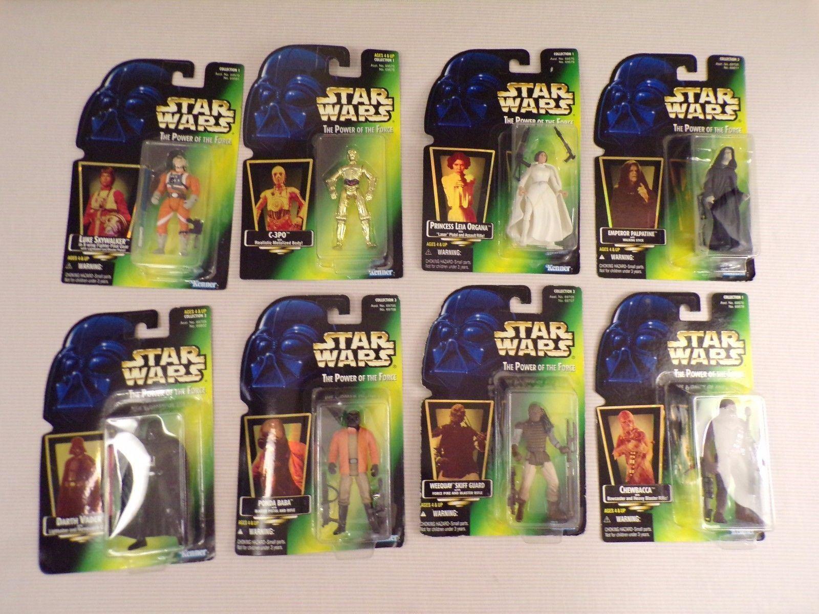Star Wars Power of the Force 9 Hologram Luke Vader Leia Emperor Ponda