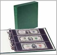 Littleton Coin Album Lca63 Small-size U.s. & World Bank Note Album With Slipcase