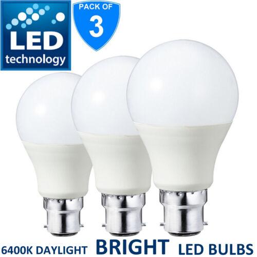 3x LED Bayonet Cap 15W =130W B22 GLS Lamp Light Bulbs Cool Daylight White Bulb