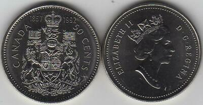 1867-1992 125th Anniv CANADA Half Dollar 50 Cent Coin From Mint Roll UNC
