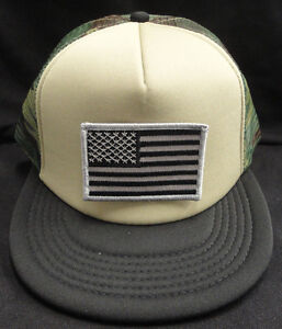 Camo Camouflage Mesh Snapback Hat   Cap With Grey and Black American ... 7bebb4f7d7f