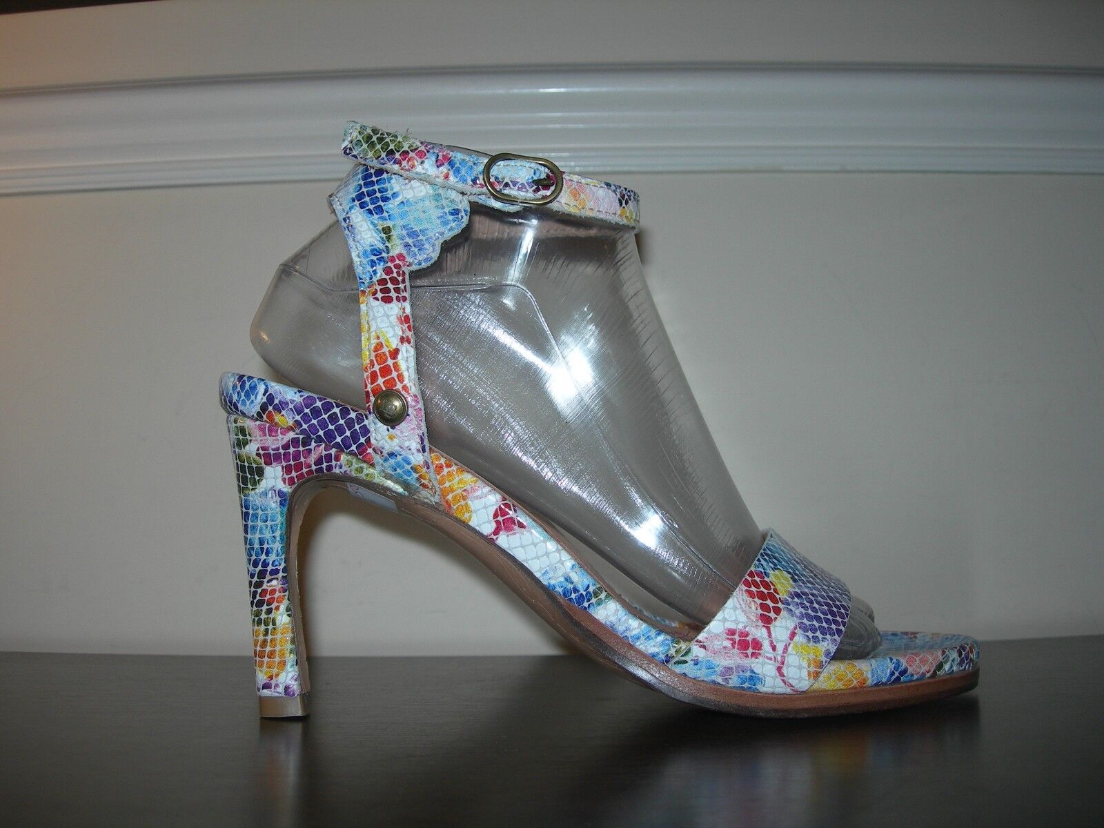 NEOSENS Donna sandali tacchi alti con cinturini EU in pelle 100% floreale EU cinturini 39/ e85339