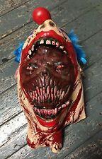 Il Male Assassino Clown Maschera in lattice Halloween Fancy Dress Costume Zombie coulrophobia