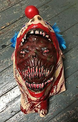 Evil Killer Clown Mask Latex Halloween Fancy Dress Costume Zombie Coulrophobia