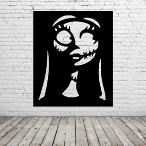 Nightmare Before Christmas Sally Wall Art Halloween Film Tim Burton