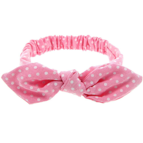 Baby Toddler Polka Dots Striped Plaids Headband Cute Turban Girls Headwear