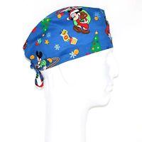 Mickey Mouse Christmas Theme Scrub Hat