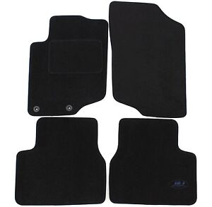 Peugeot-207-2006-2012-floor-mat-black-velvet-tailored-AV-AR-4-pcs