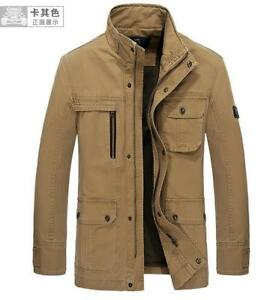 Mens-AFS-Jeep-military-Cotton-jackket-army-Coat-trench-Jacket-Outwear-parkas