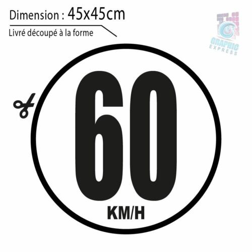 60 KM//H LIMITATION VITESSE BUS TRACTEUR POIDS LOURD ADHÉSIFS AUTOCOLLANT STICKER