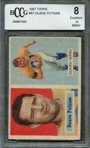 1957-topps-87-DUANE-PUTMAN-los-angeles-rams-rookie-card-BGS-BCCG-8