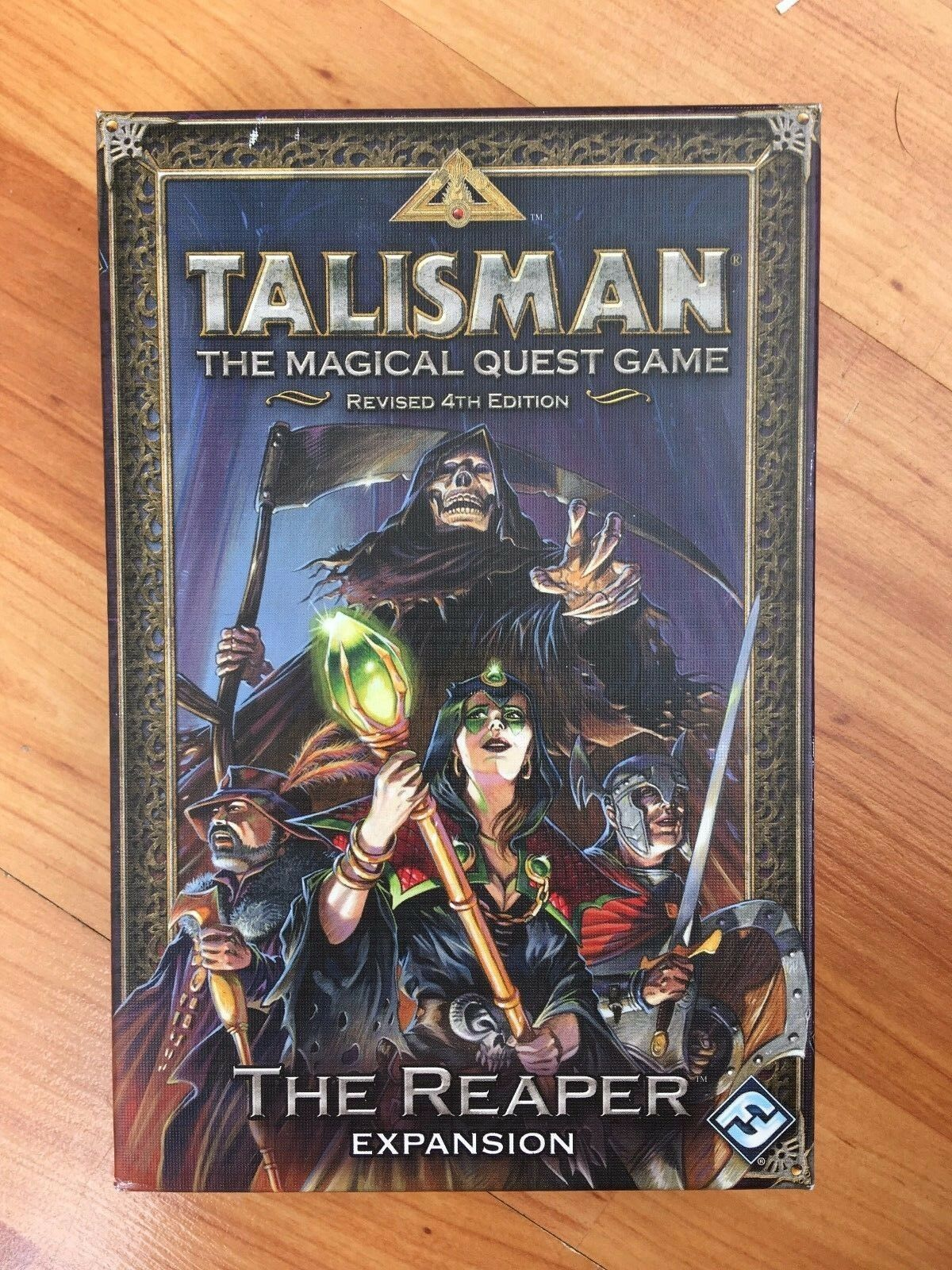 TALISMAN THE MAGICAL QUEST BOARD GAME THE REAPER EXPANSION REVISED 4TH EDITION
