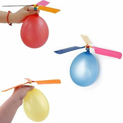 BALLOON HELICOPTER FLYING TOY KIDS BOYS PARTY BAG FILLER LOOT OUTDOOR FUN FLY