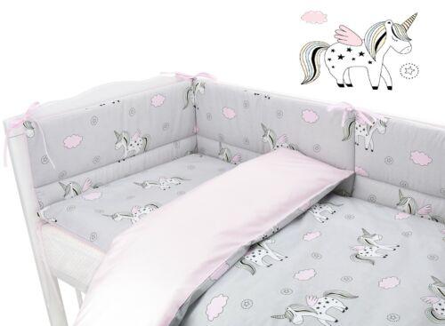 BABY GIRL BOY UNIQUE DESIGNS Baby Bedding Set fit Cot 120x60cm Cot Bed 140x70