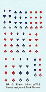 FR-101 - WWII French Armour Insignia and Names - 1/76-1/100 Decals