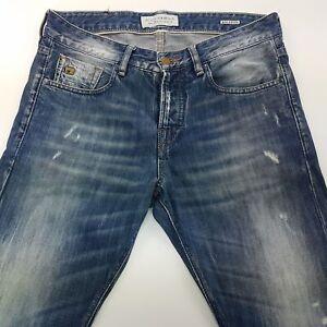 Scotch & Soda Ralston Herren Jeans Distressed w29 l32 blau Slim Skinny Mid Rise