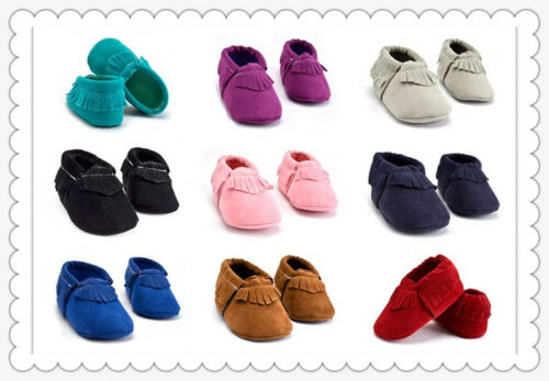 Baby Soft Sole suede//Leather Toddler Shoes Infant infant Toddler Moccasin 0-18m