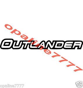 Details About Sticker Autocollant Outlander Can Am Can Am 20 Cm