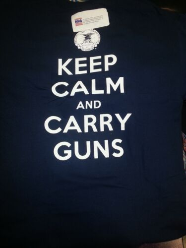 OFFICIALLY LICENSED NRA SHIRT New NRA Shirt KEEP CALM AND CARRY GUNS