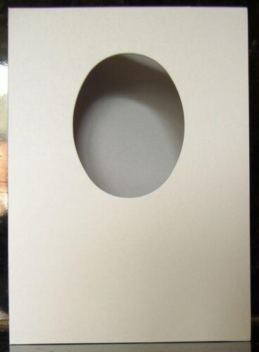 10 x blanc ovale ouverture carte blancs avec enveloppes 250gsm-sc104 A5