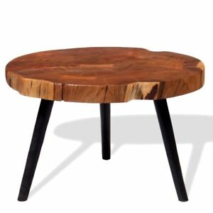 Image Is Loading Log Coffee Table Wooden Side End Sofa Tables